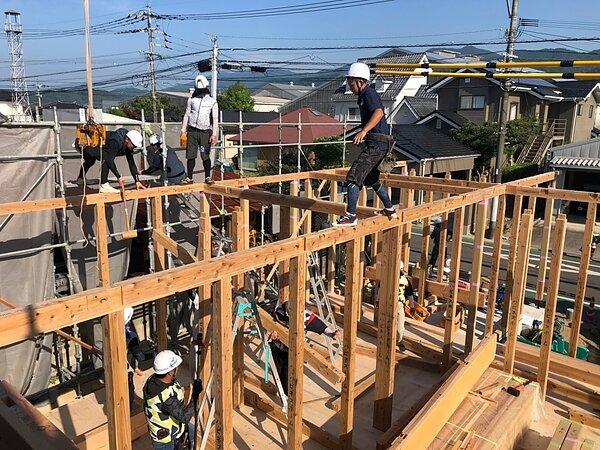 佐賀市K様・O様邸「木の家」 棟上げが行われました!の画像